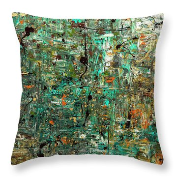Throw Pillow featuring the painting The Abstract Concept by Carmen Guedez