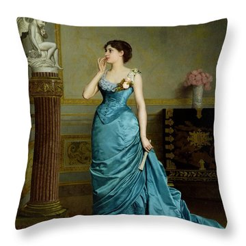 The Accomplice Throw Pillow by Auguste Maurice Cabuzel