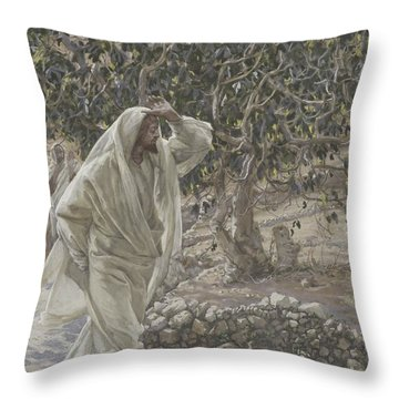 The Accursed Fig Tree Throw Pillow by Tissot