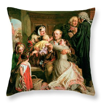 The Acquittal Throw Pillow by Abraham Solomon
