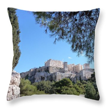The Acropolis Throw Pillow