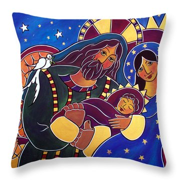 The Adoration Of The Child Throw Pillow