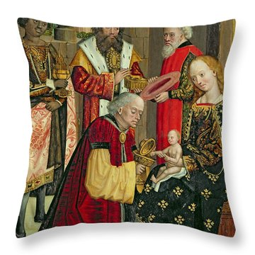 The Adoration Of The Magi Throw Pillow by Absolon Stumme