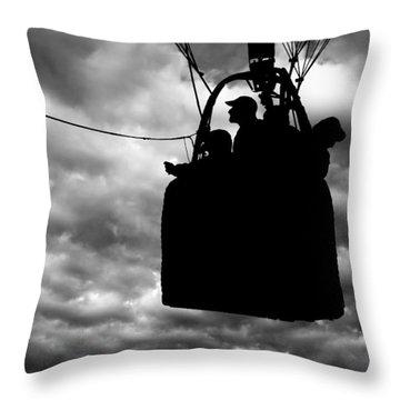 The Adventure Begins  Hot Air Balloon Throw Pillow by Bob Orsillo