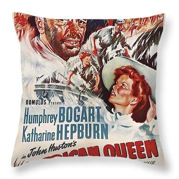 The African Queen B Throw Pillow