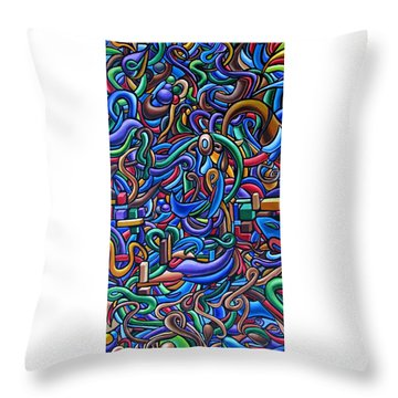 Colorful Abstract Art Abstract Painting Colorful Chromatic Acrylic Painting Throw Pillow