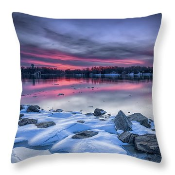 Throw Pillow featuring the photograph The Afterglow by Edward Kreis