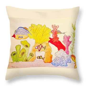 The Age Of Aquarium Throw Pillow