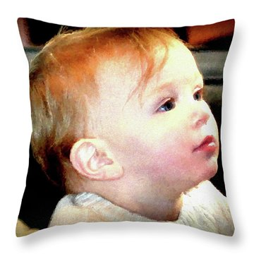 Throw Pillow featuring the photograph The Age Of Innocence by Barbara Dudley