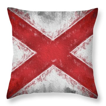 The Alabama Flag Throw Pillow