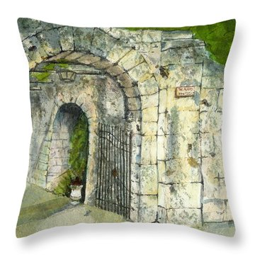 Throw Pillow featuring the mixed media The Alamo by Lynn Babineau
