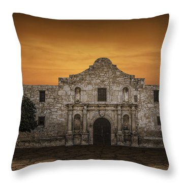 The Alamo Mission In San Antonio Throw Pillow