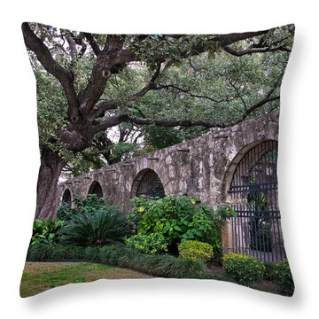 The Alamo Oak Throw Pillow