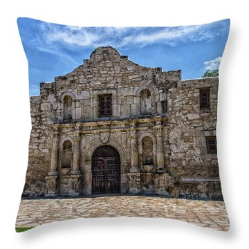 The Alamo Throw Pillow by Robert Hebert