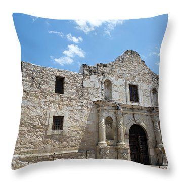 The Alamo Texas Throw Pillow