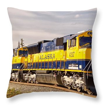 The Alaska Railroad Throw Pillow