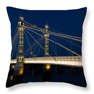 The Albert Bridge London Throw Pillow