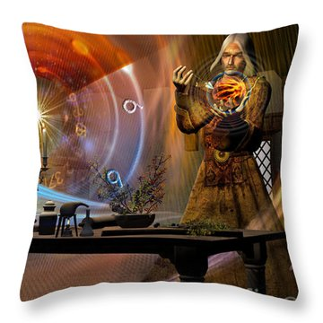 Throw Pillow featuring the digital art The Alchemist by Shadowlea Is