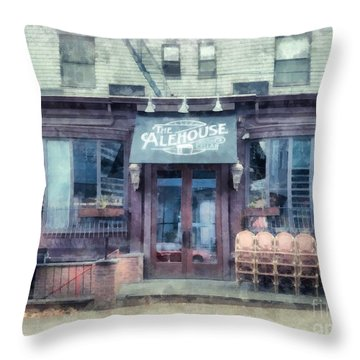 The Alehouse English Cellar Providence Rhode Island Throw Pillow