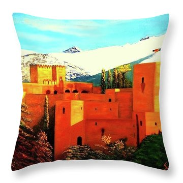 The Alhambra Of Granada Throw Pillow