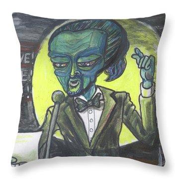 The Alien Lin-manuel Miranda Throw Pillow