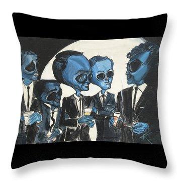 The Alien Rat Pack Throw Pillow