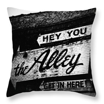The Alley Chicago Throw Pillow