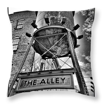 Throw Pillow featuring the digital art The Alley  by Greg Sharpe