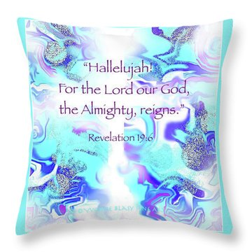 The Almighty Reigns Throw Pillow