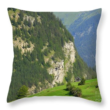 The Alps In Spring Throw Pillow