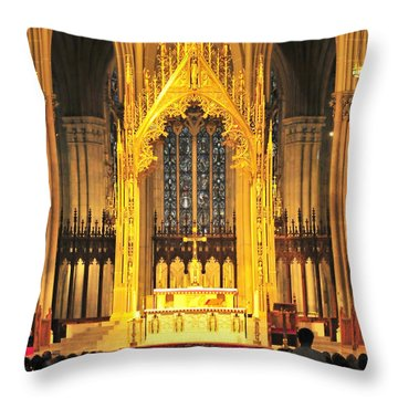 Throw Pillow featuring the photograph The Alter by Diana Angstadt