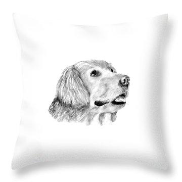 The Amanda Look Throw Pillow by John Stuart Webbstock