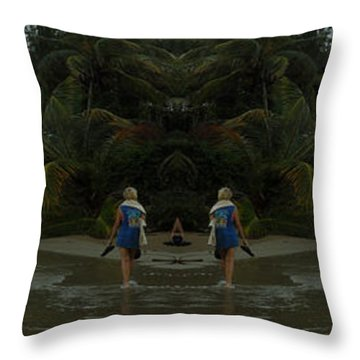 The Amazing Beach Throw Pillow