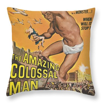 The Amazing Colossal Man Movie Poster Throw Pillow