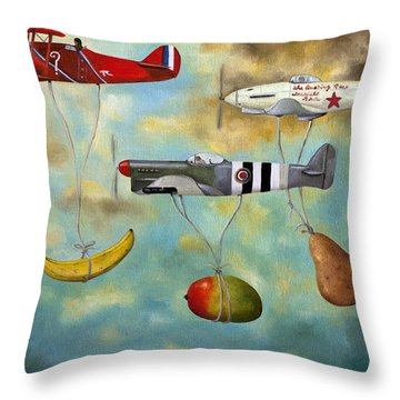 The Amazing Race 6 Throw Pillow by Leah Saulnier The Painting Maniac