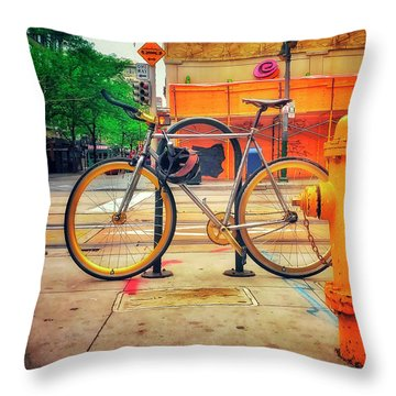Throw Pillow featuring the photograph The American Darling Bicycle by Craig J Satterlee