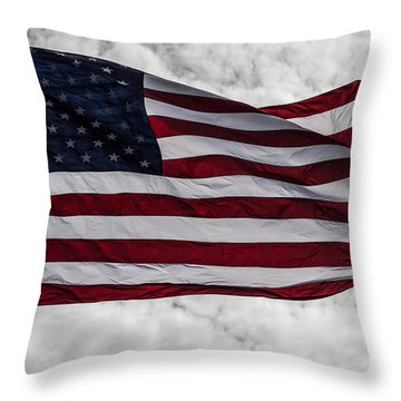 The American Flag Throw Pillow by Nance Larson