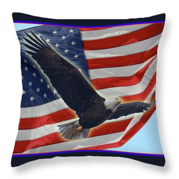 The American Throw Pillow