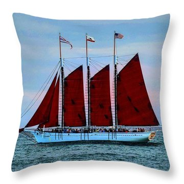 The American Pride At Sunset Throw Pillow