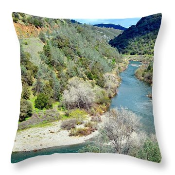 The American River Throw Pillow