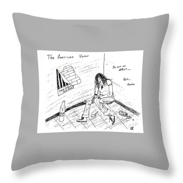 The American Voter Throw Pillow by David S Reynolds