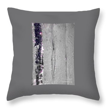 The Wall Of Amethyst Ice  Throw Pillow by Jennifer Lake