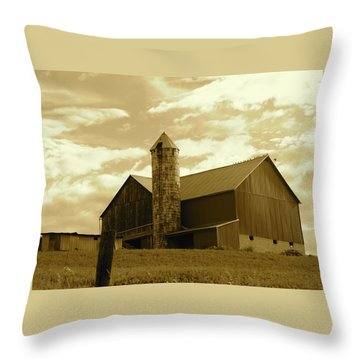 The Amish Silo Barn Throw Pillow