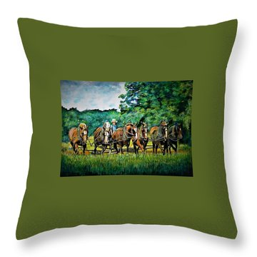 The Amish Team Throw Pillow