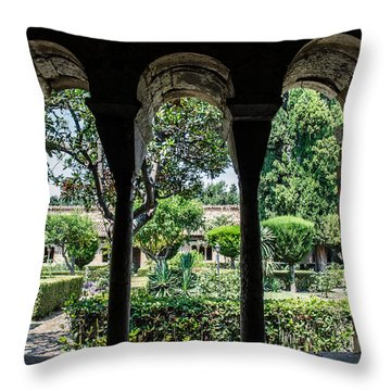 The Ancient Cloister Throw Pillow