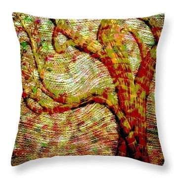 The Ancient Tree Of Wisdom Throw Pillow