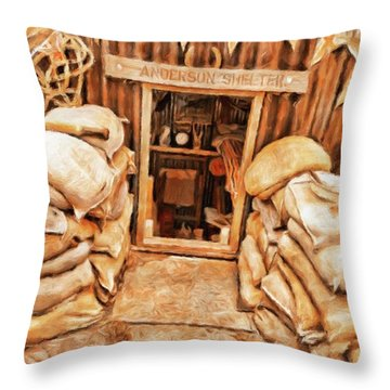 The Anderson Shelter By Sarah Kirk Throw Pillow