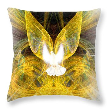 The Angel Of Forgiveness Throw Pillow