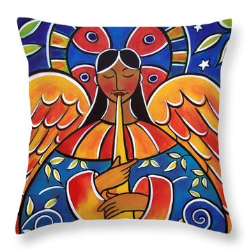 The Angel Of Glad Tidings Throw Pillow