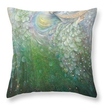 The Angel Of Growth Throw Pillow